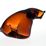 <strong>Janků Miloslav</strong> - <p>Solid formed glass plastic of a&nbsp;dog, designed for Zeleznobrodske glass. About 1960. Height 10 cm.</p>