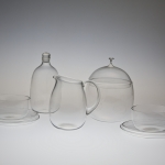 "<strong>Libenský Stanislav</strong> - <p>A frequently produced tea set made of crystal molten Borocrystal glass, according to a&nbsp;design by S. Libensky, and created by n.p. Artistic glass in Novy Bor, facility 7, J. Kreuz's workroom in 1949. (Published: Jaroslav R. Vavra ""Five thousand years of glass-making"" , page 135, Antonin Langhamer ""The Legend of Czech Glass"", page 164 and catalogue of Artistic Glass Novy Bor from 1952).</p>"
